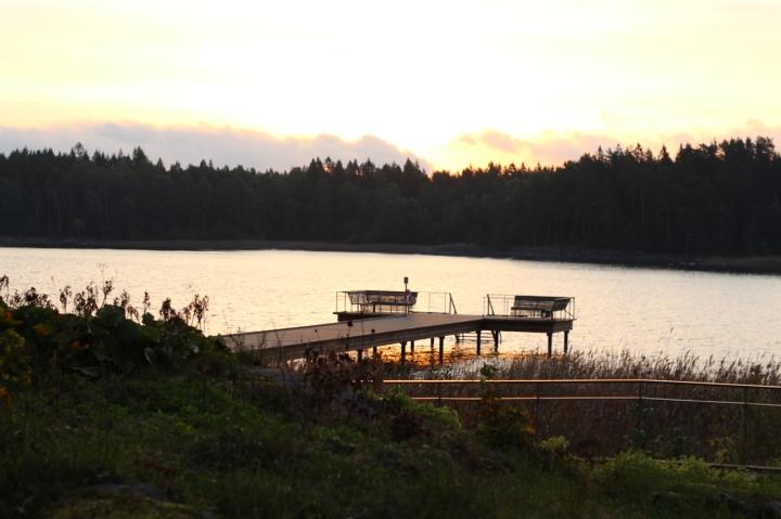 Fargefull morgen ved LäcköSlott