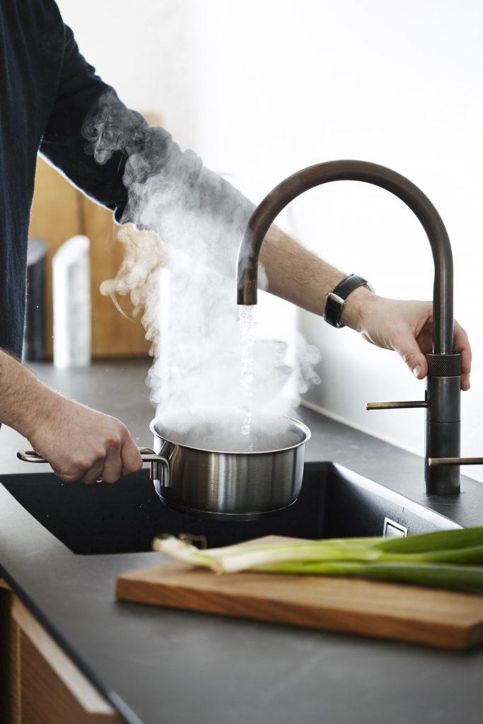 Quooker: kokende vann rett frakranen